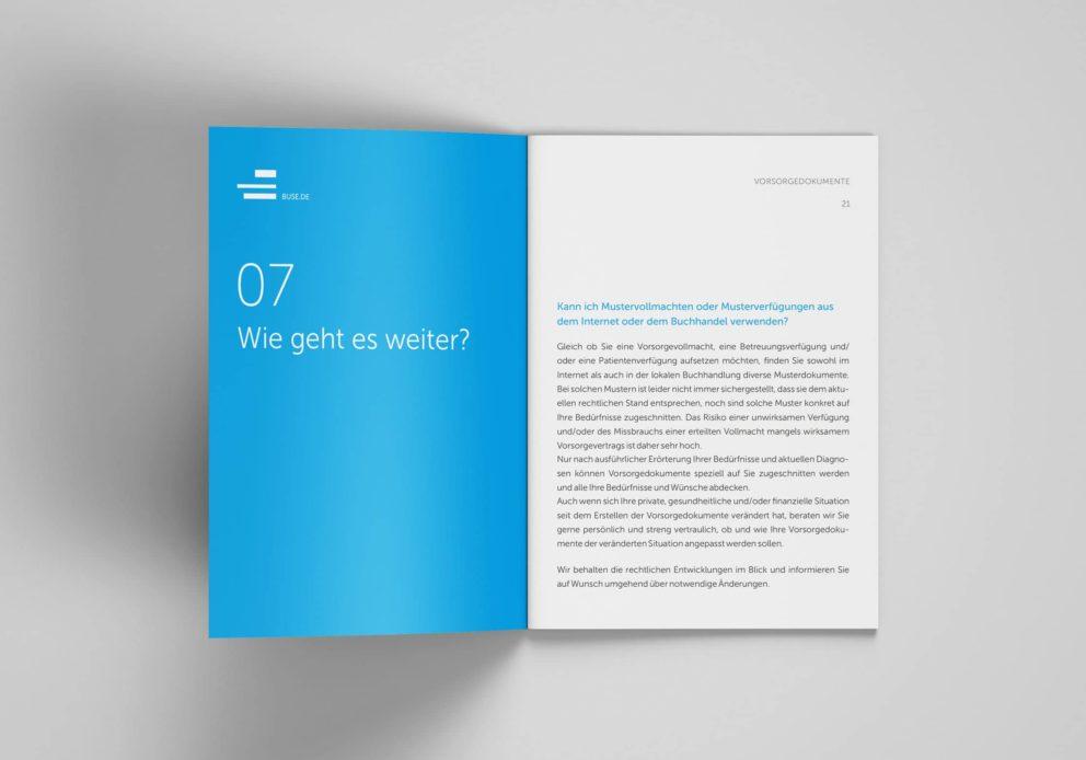 Vorsorgedokumente, My Hidden Secrets von Sabine Feindura, Rechtsanwältin der Kanzlei Buse Heberer Fromm, 2019, Seiten 20-21