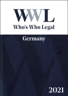 2021 WWL Who's Who Legal Germany A4 Front Cover